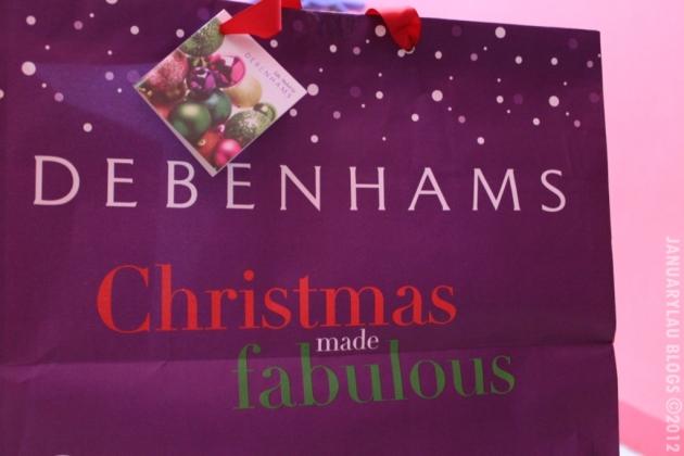 debenhams christmas bag