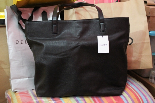 Leather Effect Shopper Bag
