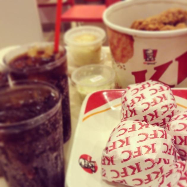 dinner at kfc