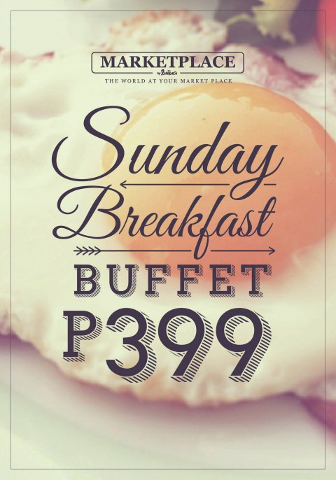 sunday breakfast buffet at marketplace